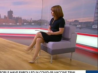 Kay Burley Short Skirt And Great Legs